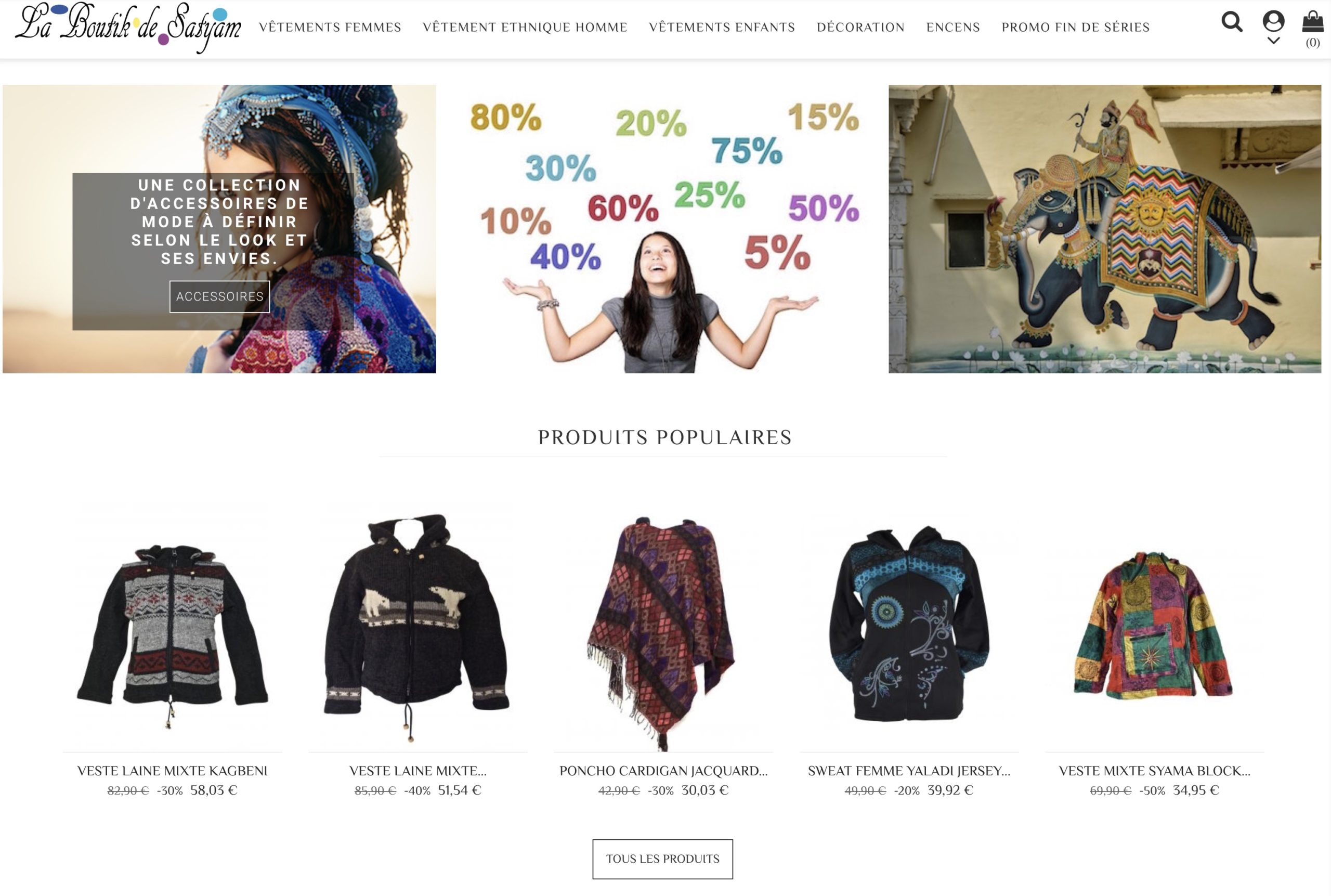 Boutique en ligne de vêtements ethniques