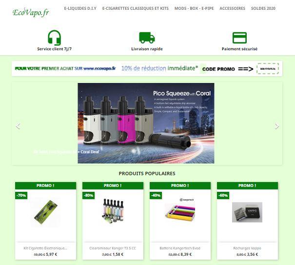 Ecovapo, cigarettes électroniques et e-liquides
