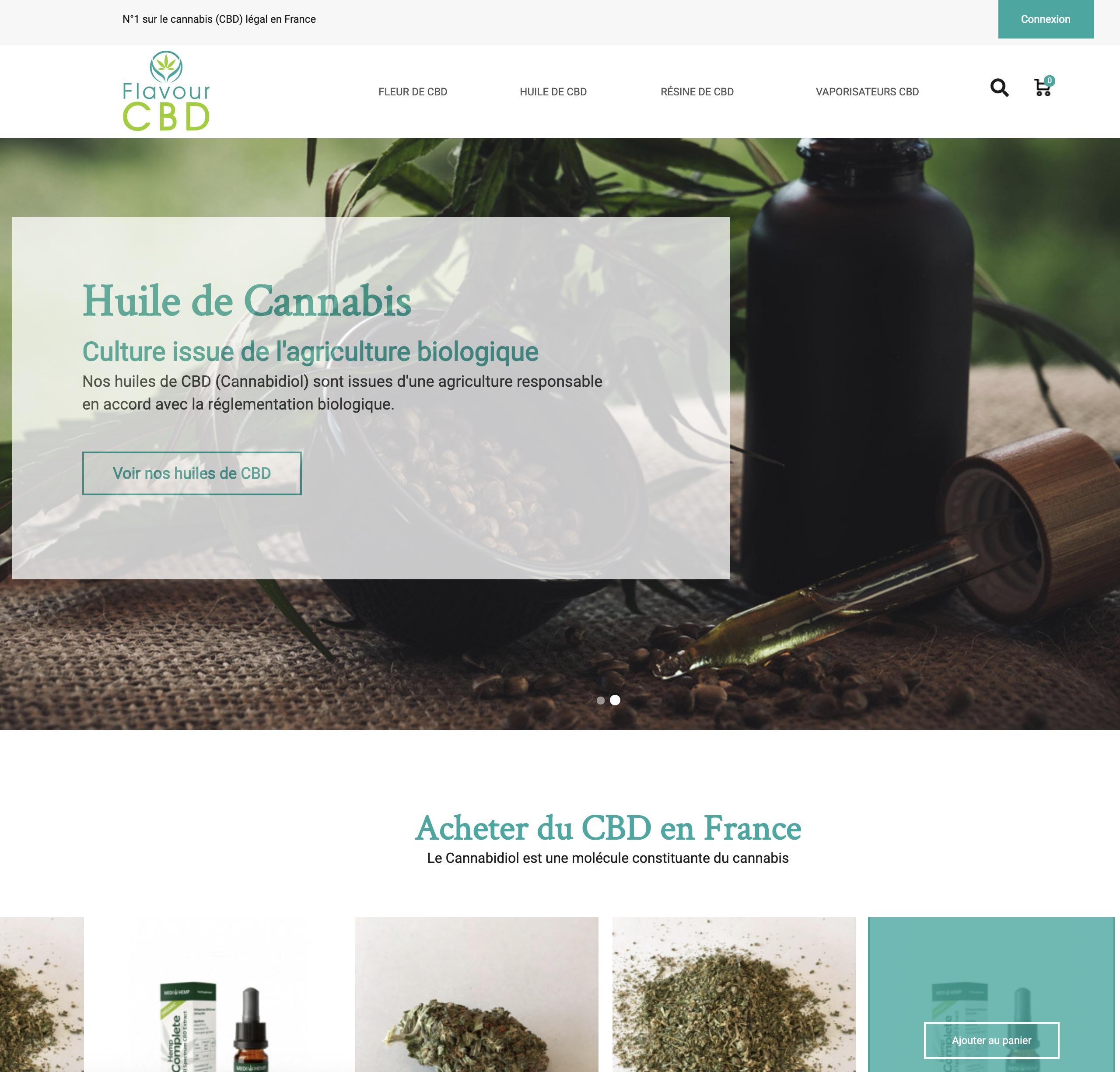 Flavour CBD : vente de CBD légal en France